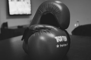 boxing gloves rock steady