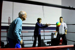 elderly group exercise to fight Parkinson's